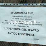 Teatro Antico chiuso e zero turisti