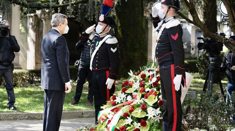 Draghi a Bergamo per ricordare le vittime da Coronavirus